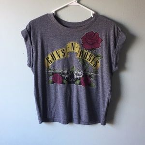 Tops - 4/$25 Guns n Roses crop t